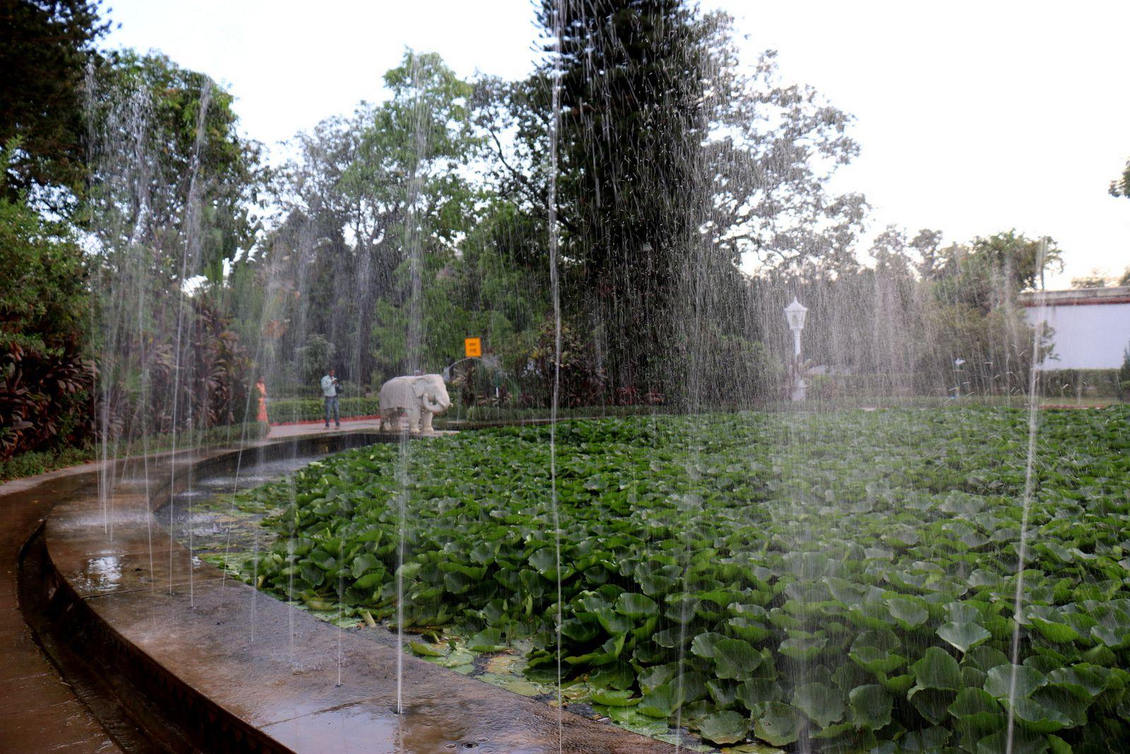 Les bassins du jardin &quot&#x3B;Sahelion Ki Bari&quot&#x3B;, Udaipur, Inde