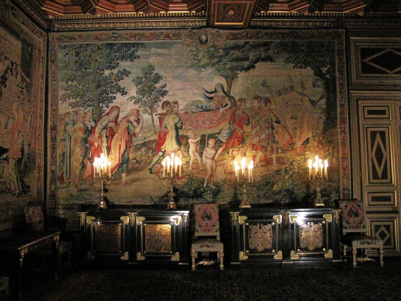 Cabinets d'ébène du salon François 1er, château de Fontainebleau