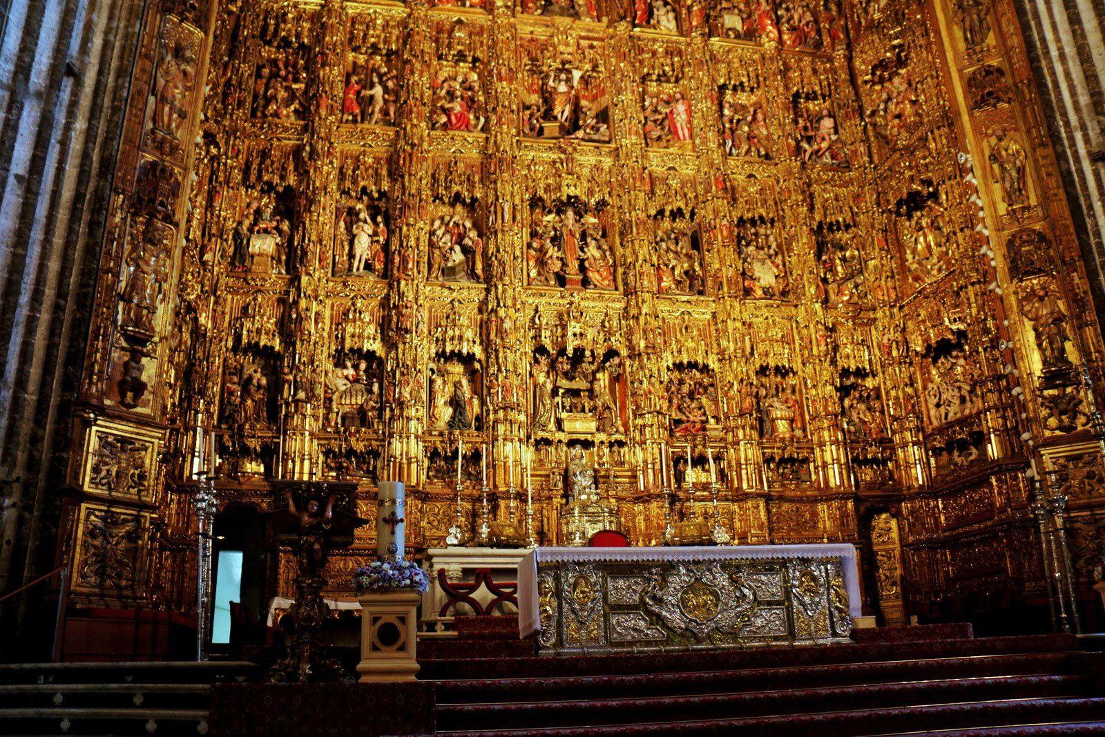 La cathédrale de Séville, le Retable