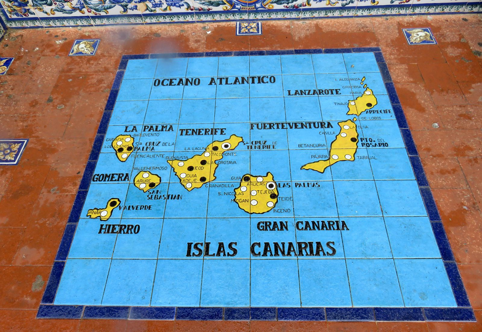 Banc des Iles Canaries, plaza de España (Séville)