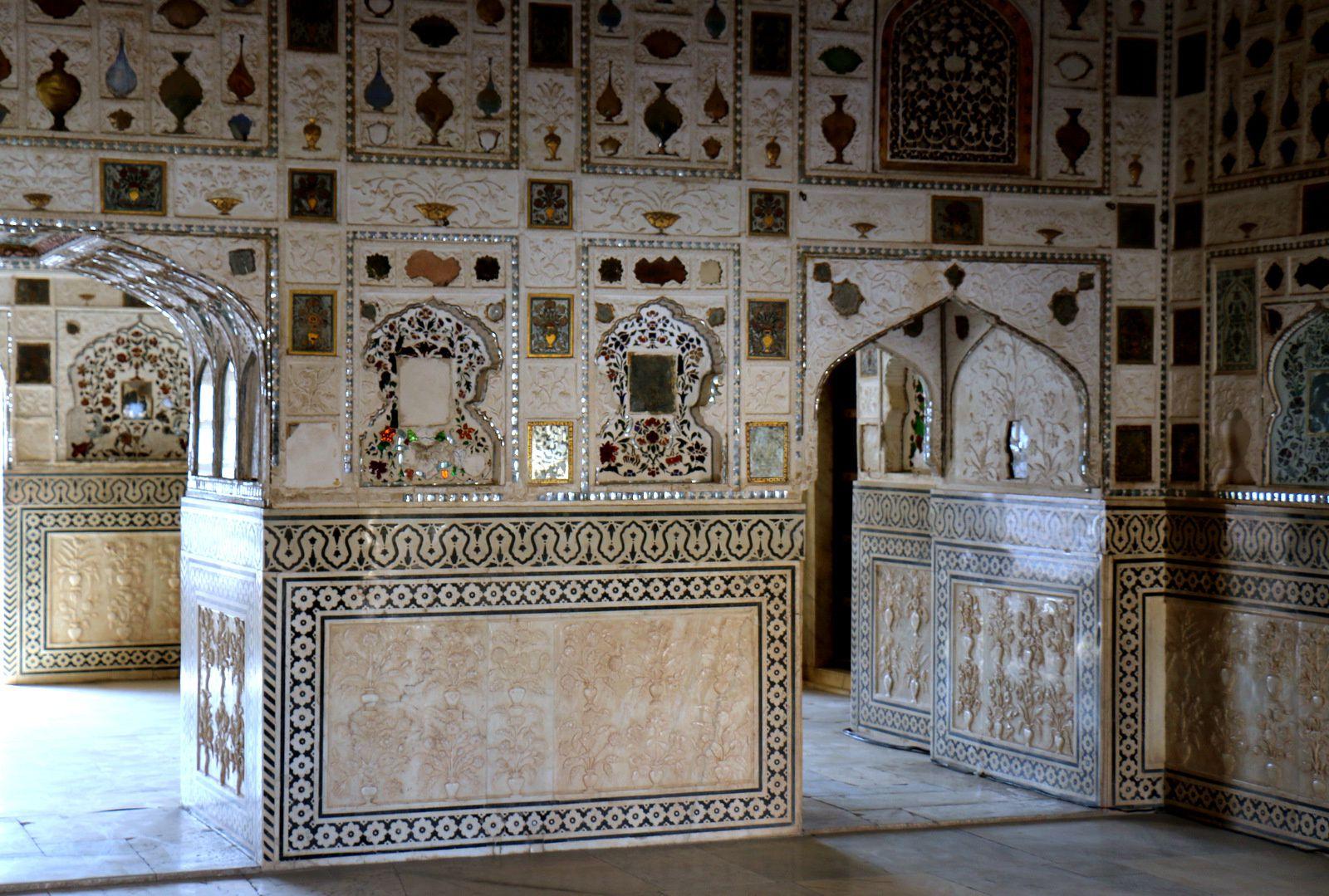 Palais des miroirs ou Jai Mandir, fort d'Amber