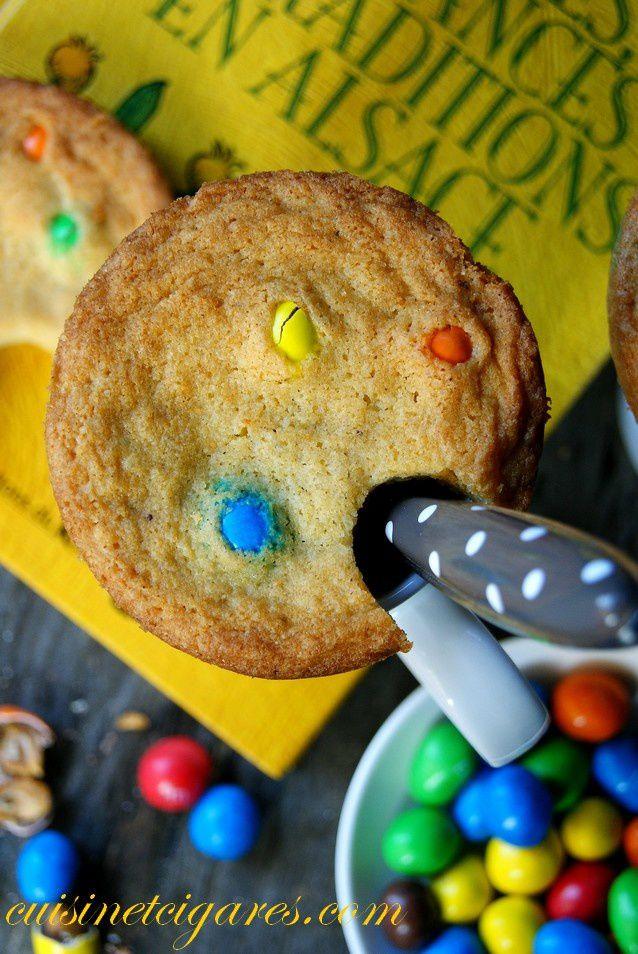 Cookies M&amp&#x3B;Ms {mains libres} pour la Battle Food n°18
