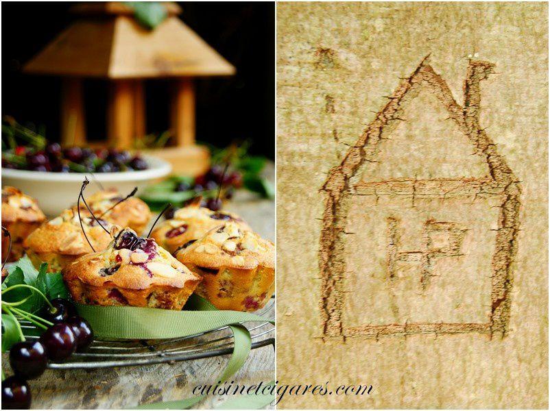 """Une petite maison gravée rencontrée au détour d'un tronc d'arbre... elle semble avoir """"grandi"""" sur son hôte :)"""