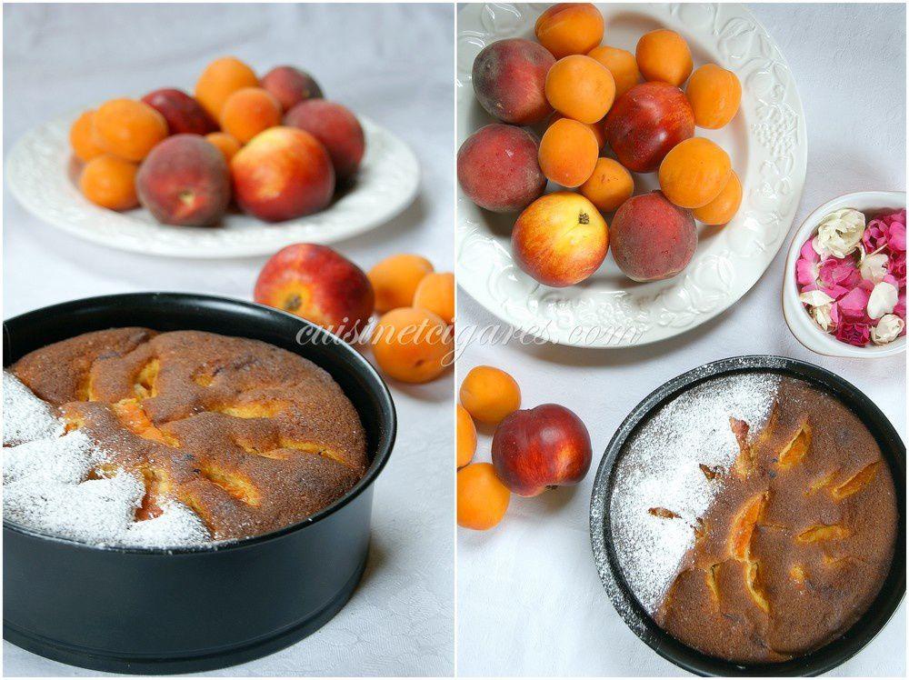 Gâteau aux fruits jaunes : Abricots, Pêches, Nectarines pour le MMM n°26