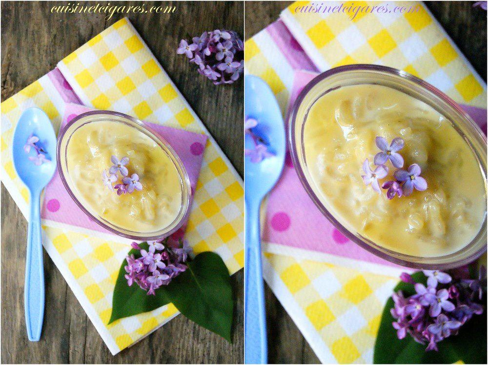 Riz au lait saveur Lilas et le Monday Music Miam n°35