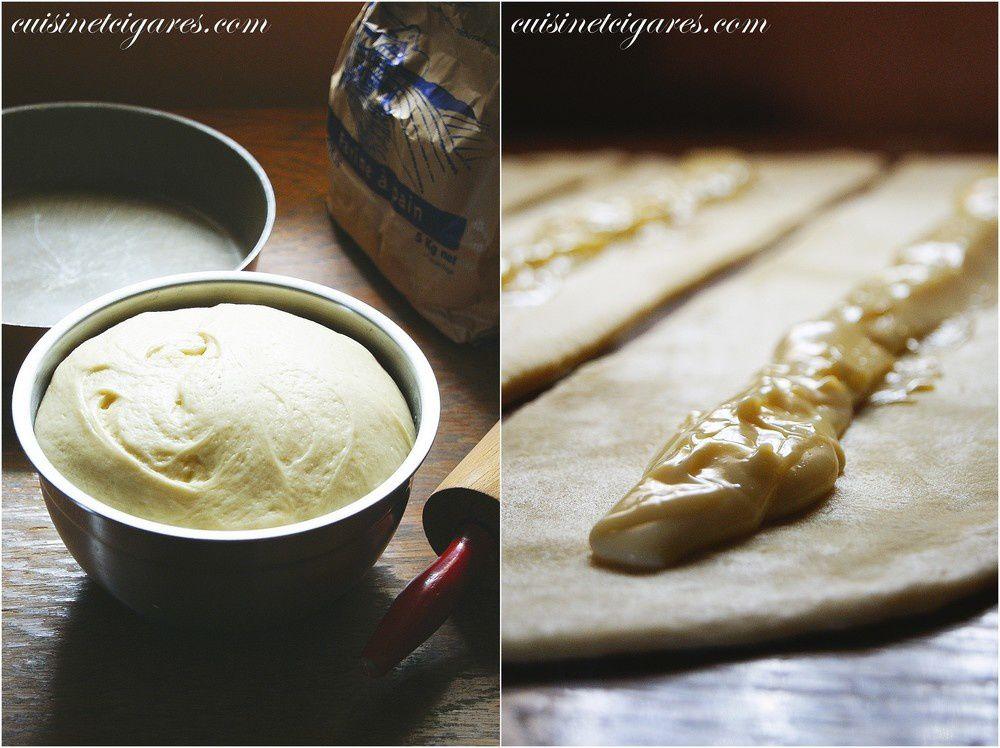 Spirale Briochée à la crème pâtissière et aux Nectarines