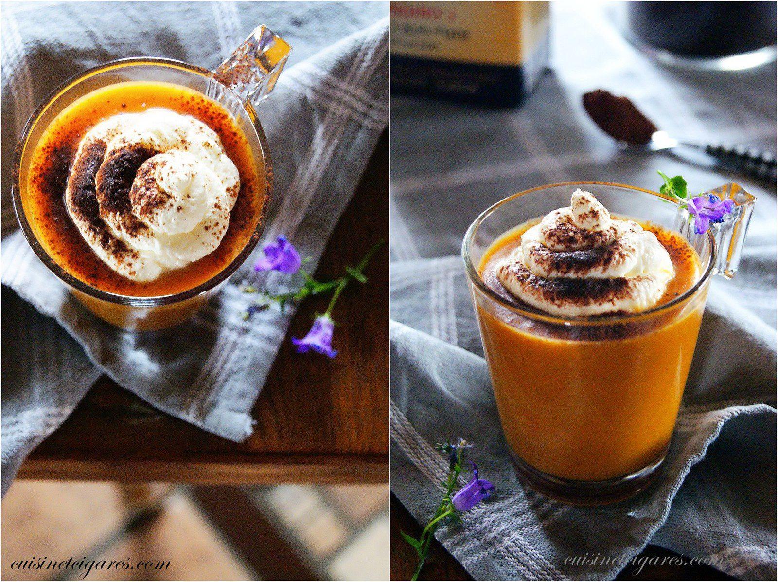 Cappuccino de Butternut et sa Chantilly Cacao