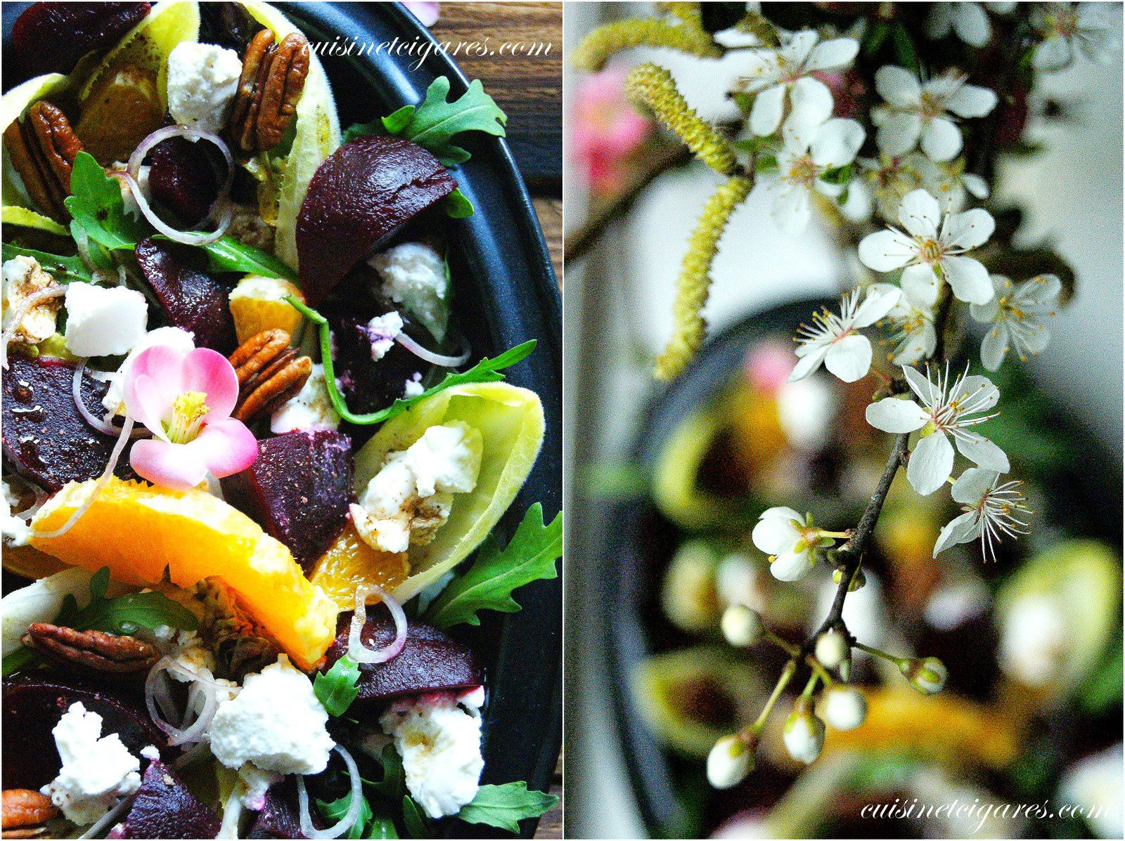 Salade colorée : Betteraves, Endives, Orange et Ricotta