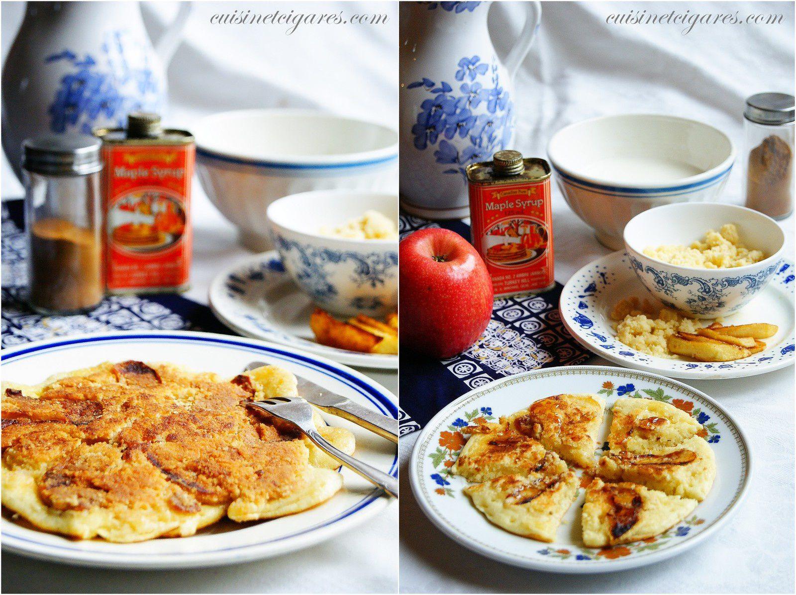 Apple Steusel Pancakes