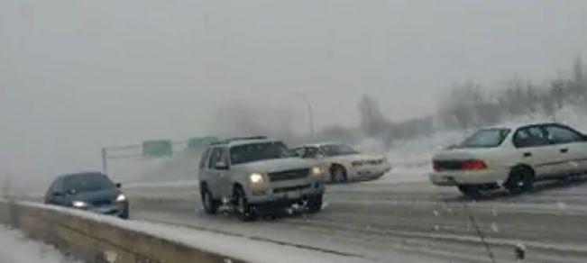 Carambolage Minnesota Highway