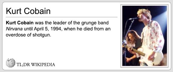 TL ; DR Wikipedia