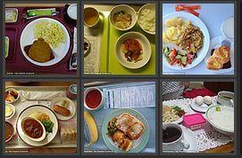 Plateaux-repas d'hôpitaux autour du monde