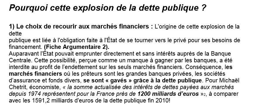 Rocard : la dette française et les banques privées