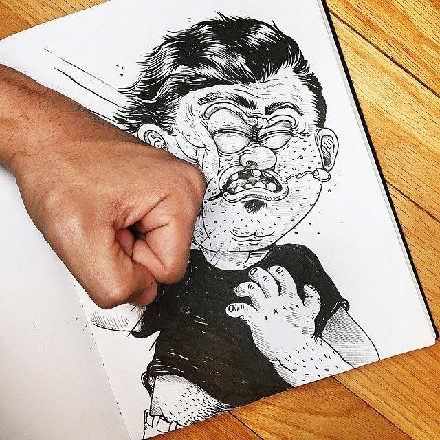 Alex Solis, quand le dessinateur joue avec ses dessins