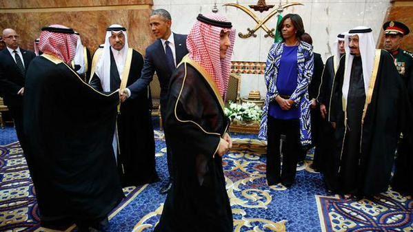 Michelle Obama non voilée en Arabie Saoudite