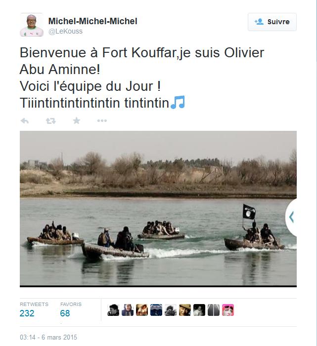 Entre foot et Daesh, un Twittos assez craspek