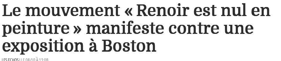 Happening anti Renoir à Boston