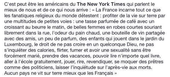 Citation du New York Times...ou pas...