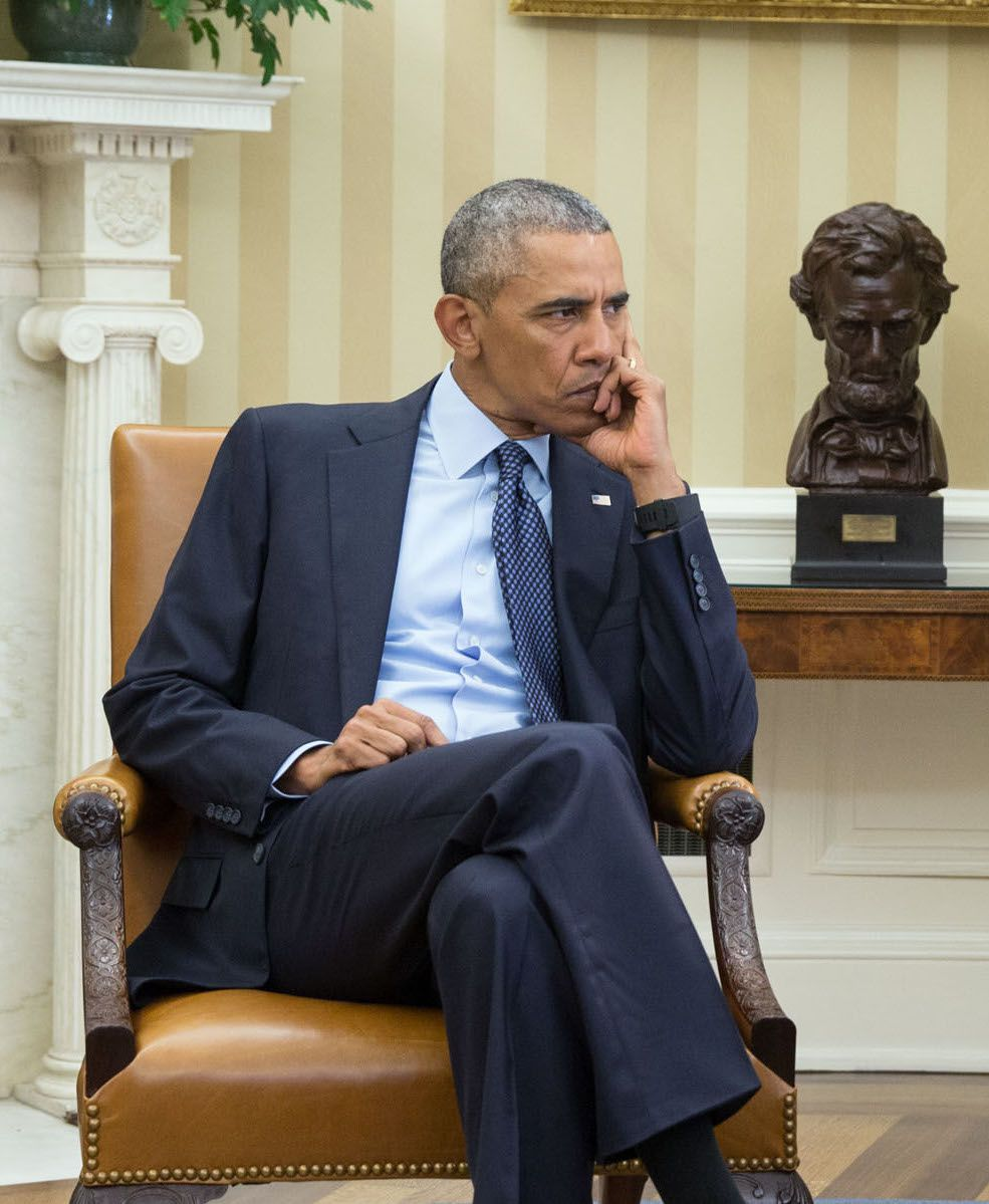Obama as he's being informed of the Orlando shooting