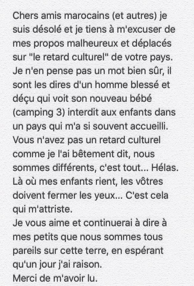 Camping 3 interdit aux moins de 16 ans au Maroc