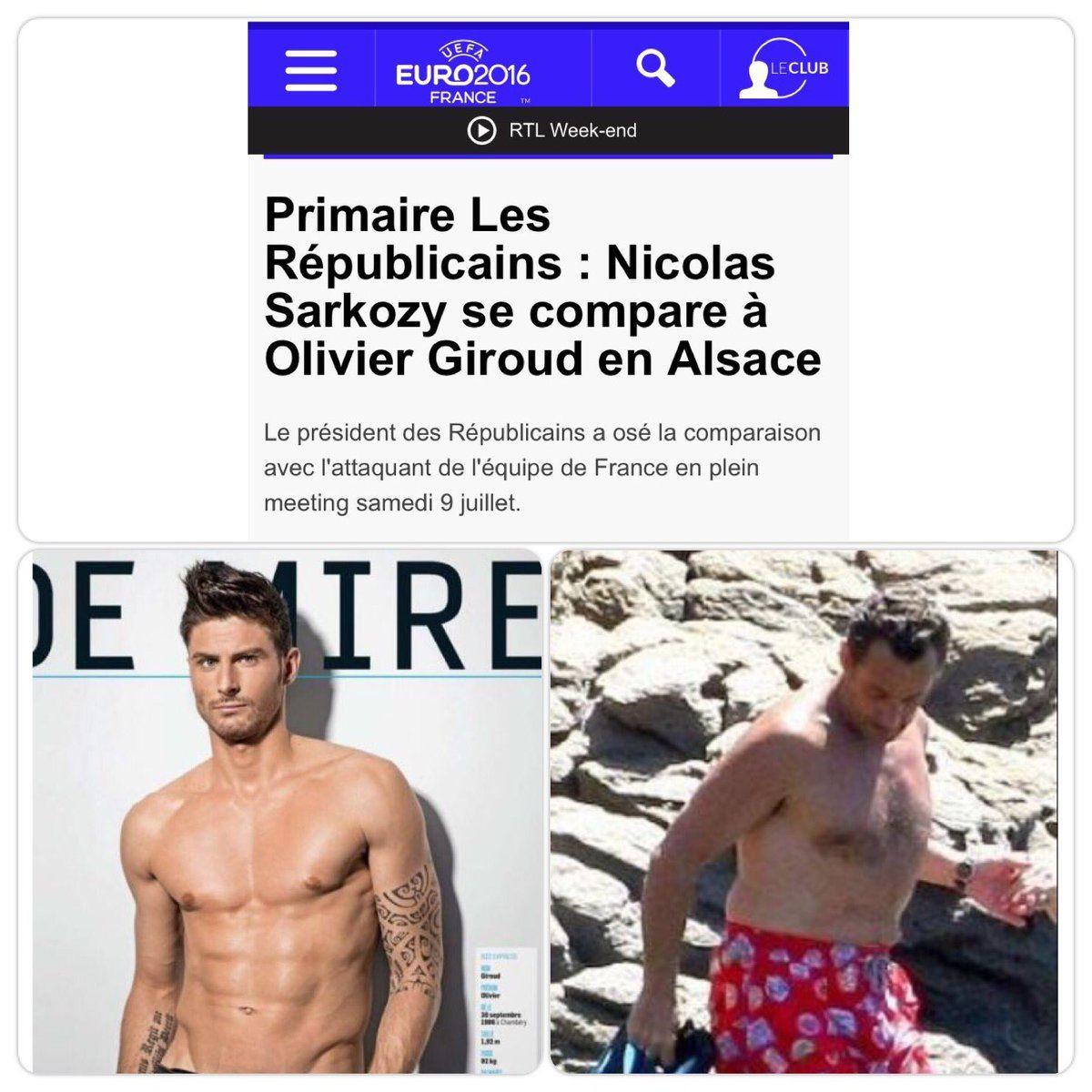 Alsace : Sarko se compare à Giroud