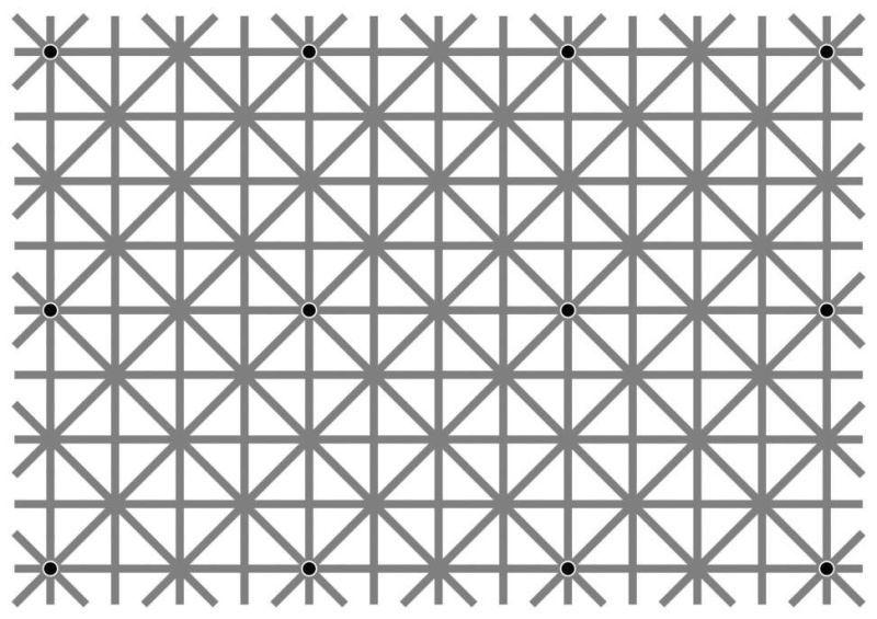 Pouvez-vous voir les 12 points noirs en même temps ?