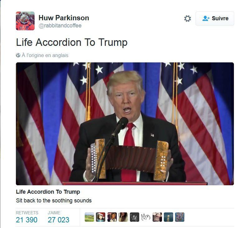 L'accordéon de Trump