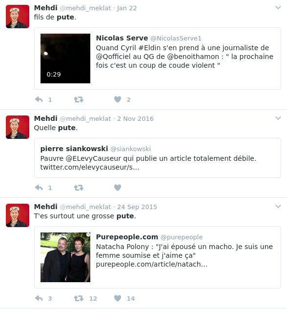 Les curieux tweets de Mehdi Meklat