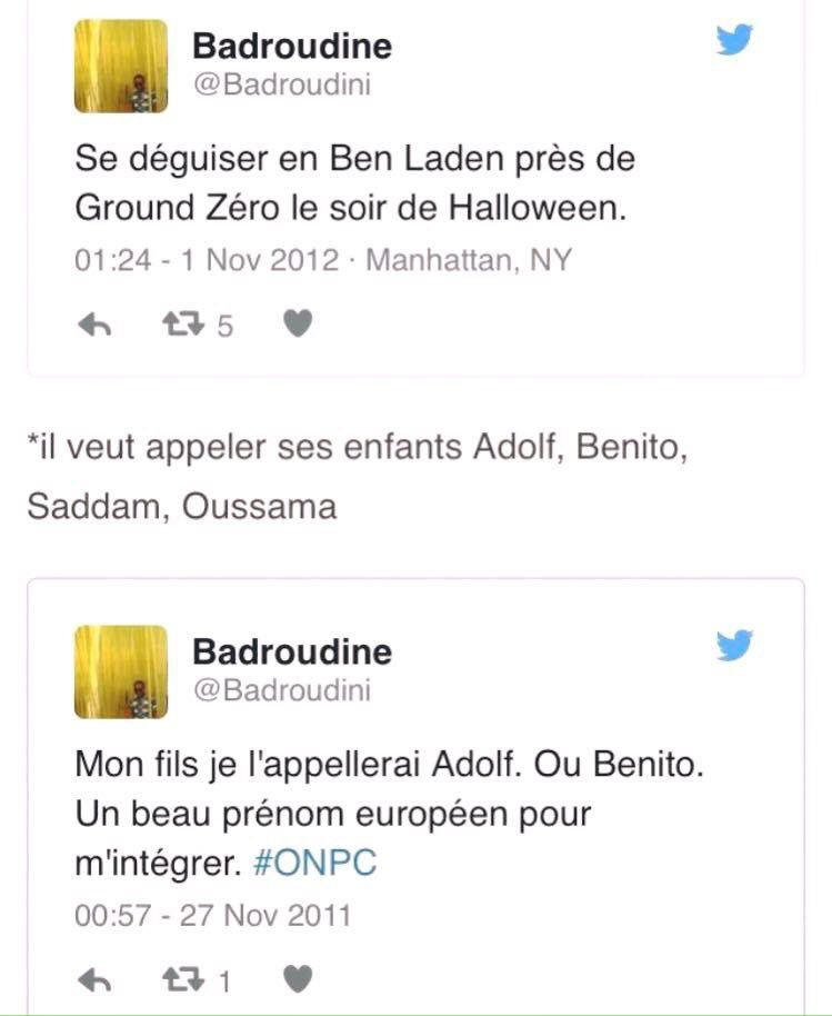 Les curieux tweets de Badroudine, ami de Meklat