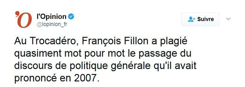 Fillon  Tocadéro 2017, Assemblée 2007 : même discours