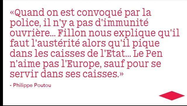 Poutou dézingue Fillon et Le Pen