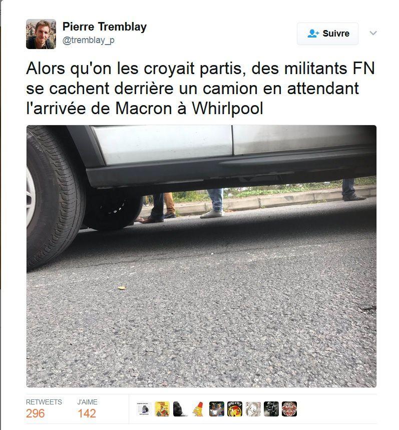 L'affiche de Le Pen photoshoppée
