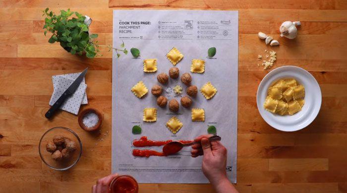 Les recettes comme des pages de coloriage