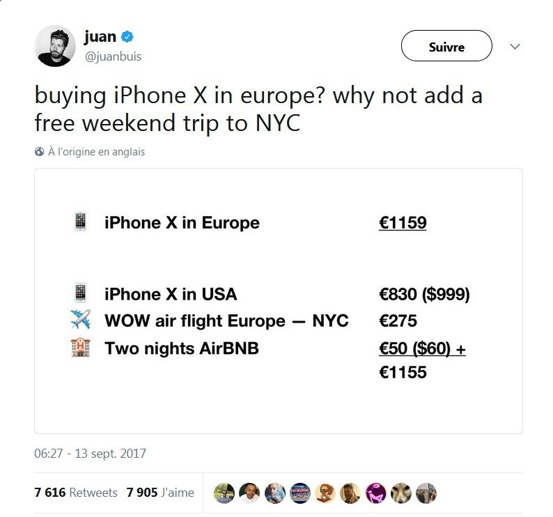 Bon plan iPhone X