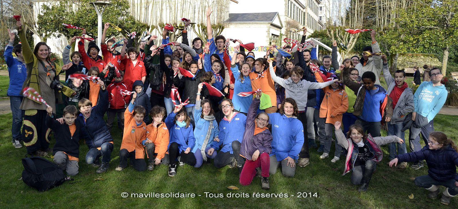 Journée mondiale du scoutisme au square bayard la Roche-sur-Yon.