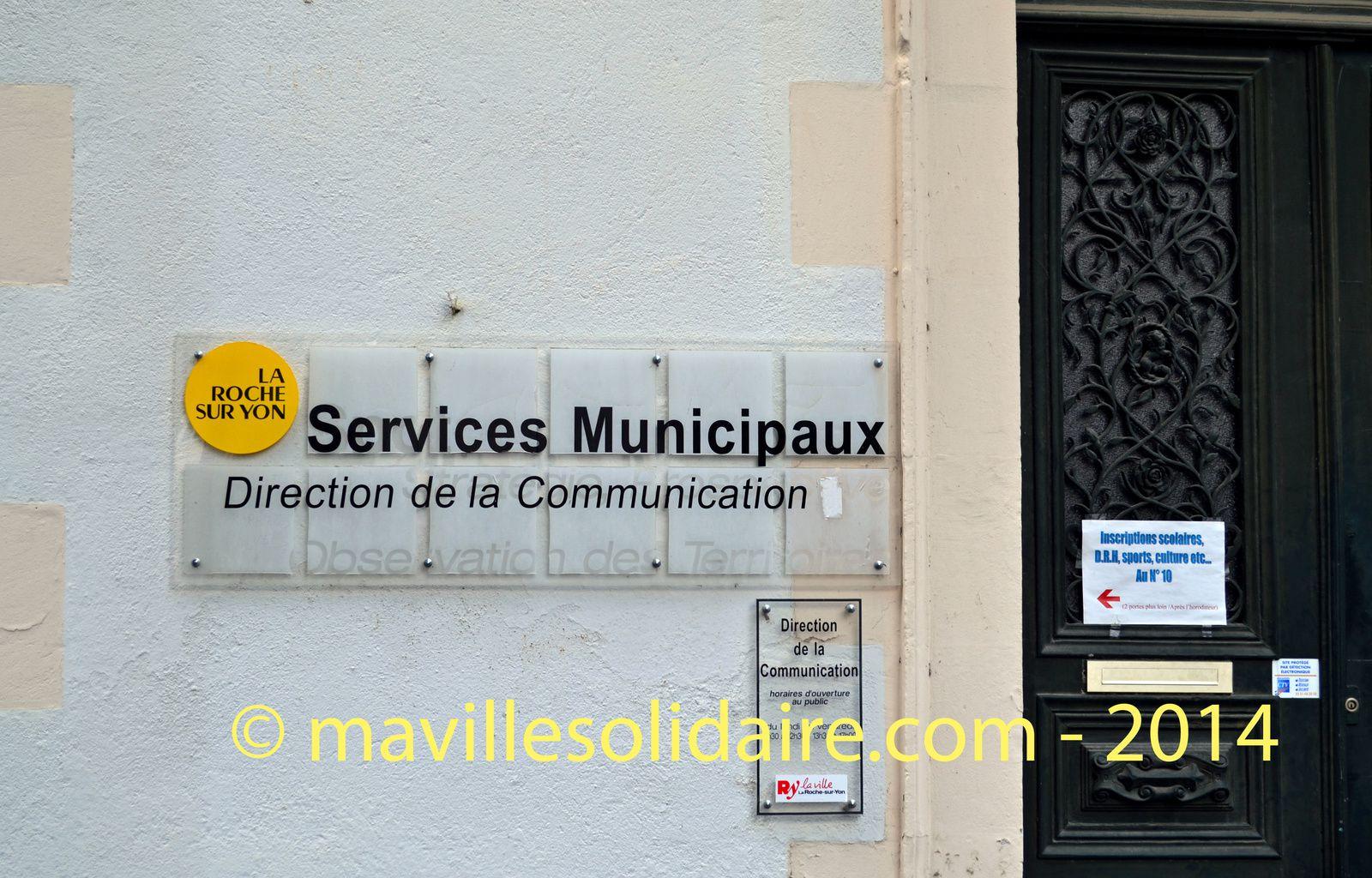 La Ville de la Roche-sur-Yon assure sa communication.
