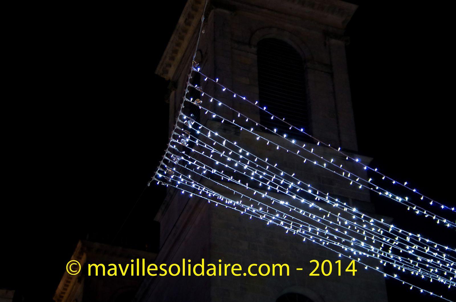 Illumination Noël la Roche-sur-Yon centre-ville.