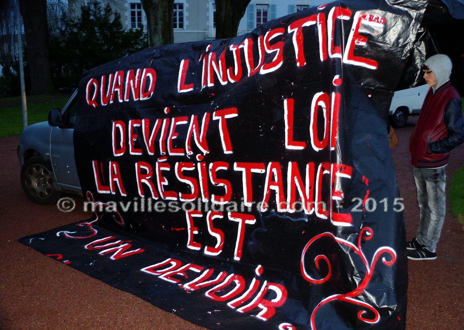 1ère«Nuit de la solidarité» à la Roche-sur-Yon.