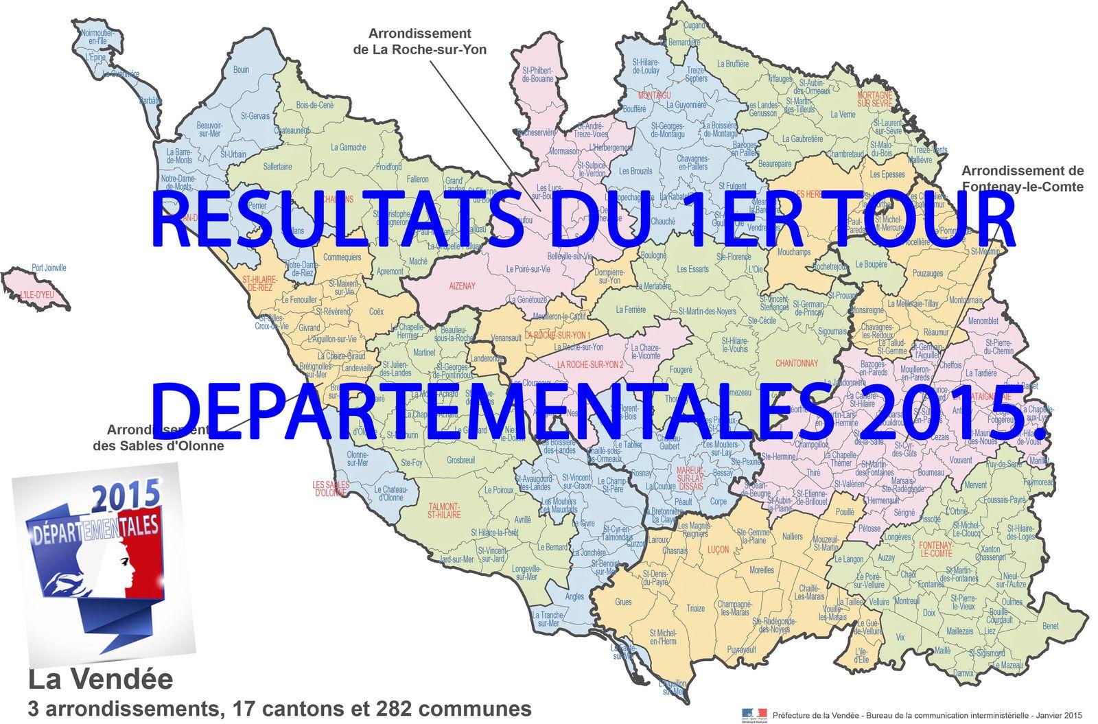 Les résultats du 1er tour en Vendée par communes.