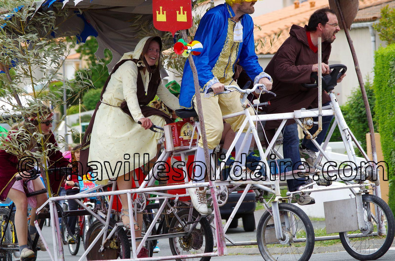 La Roche-sur-Yon. 250 cyclistes à Carnavélo.