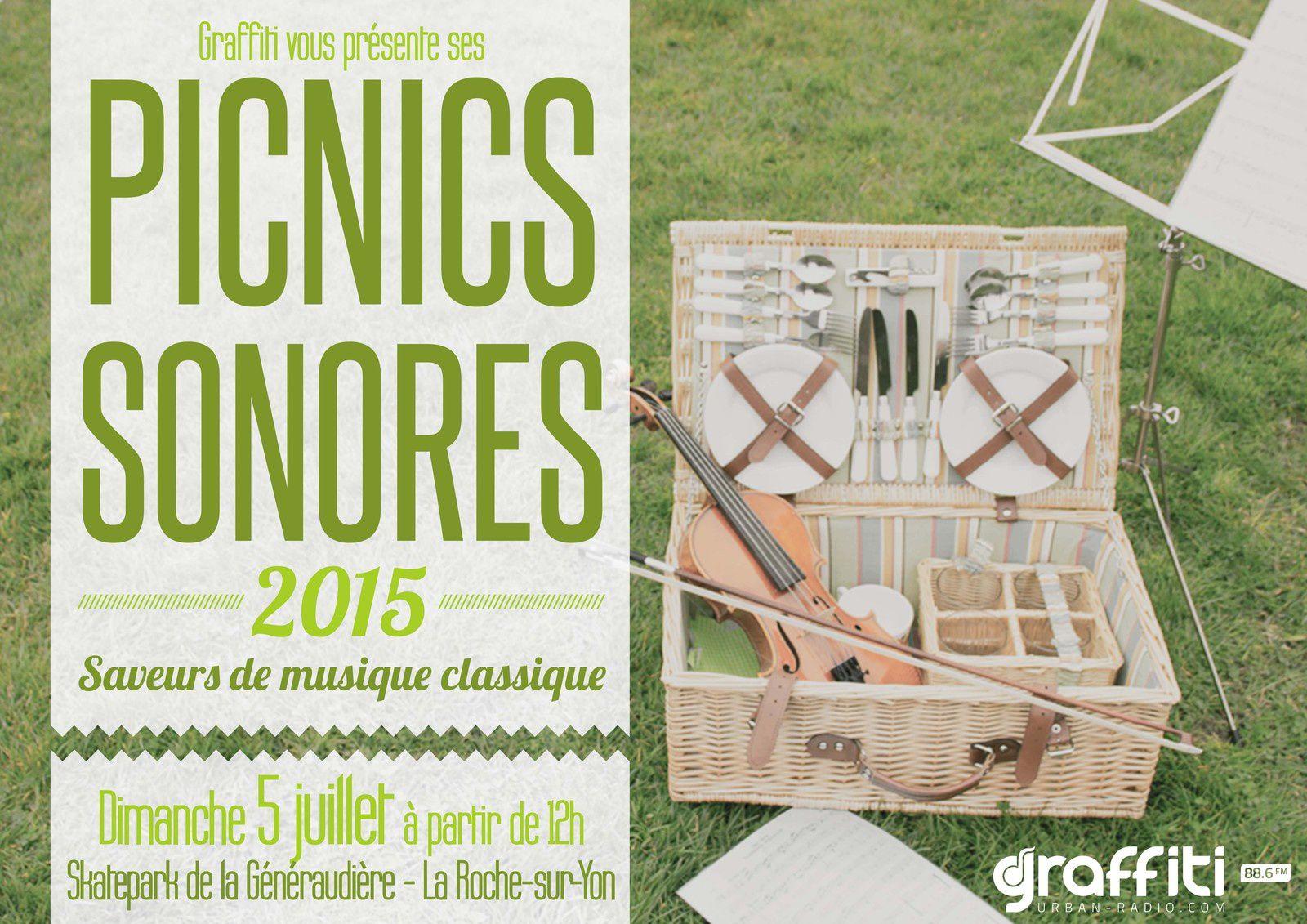 La Roche-sur-Yon. Trois picnics sonores cet été.