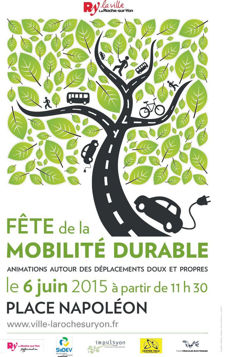 La Roche-sur-Yon. Fête de la mobilité durable samedi 6 juin 2015.