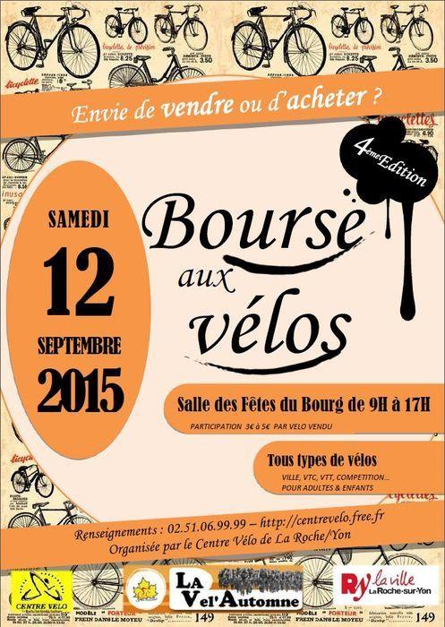 La Roche-sur-Yon. Bourse aux vélos #4 samedi 12 septembre 2015.