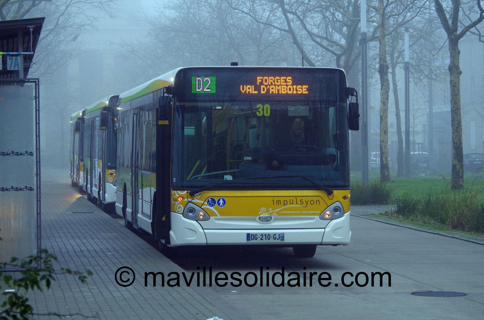 La Roche-sur-Yon. Bus le dimanche: test grandeur nature.