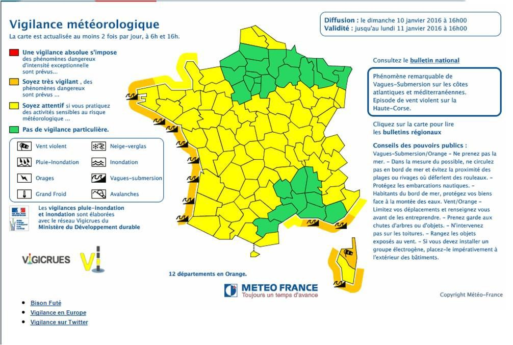 Météo Vendée : Vent violent alerte Orange subemersions marines