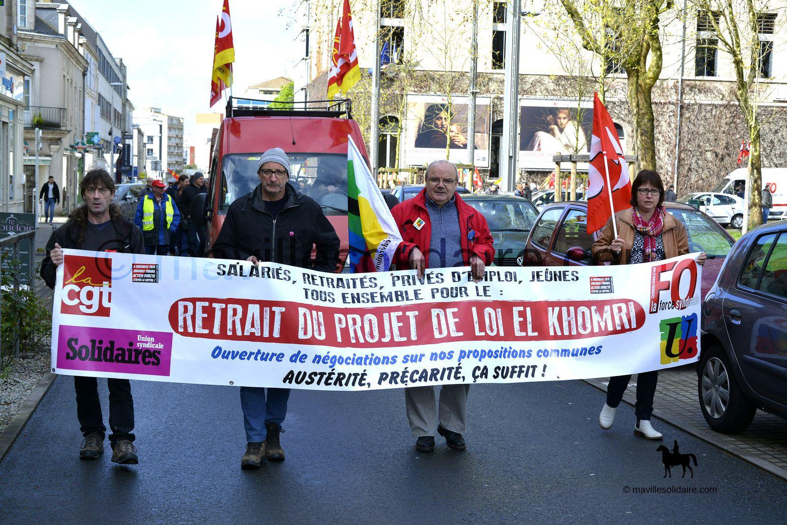 La Roche-sur-Yon. Petite mobilisation contre la loi travail.