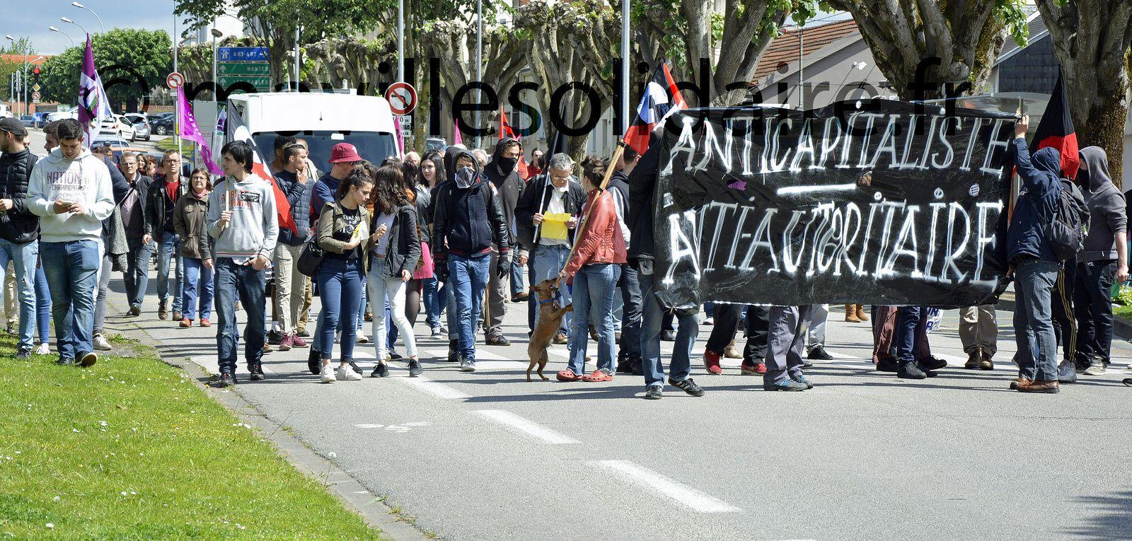 La Roche-sur-Yon. Loi travail: 700 personnes dans la rue.