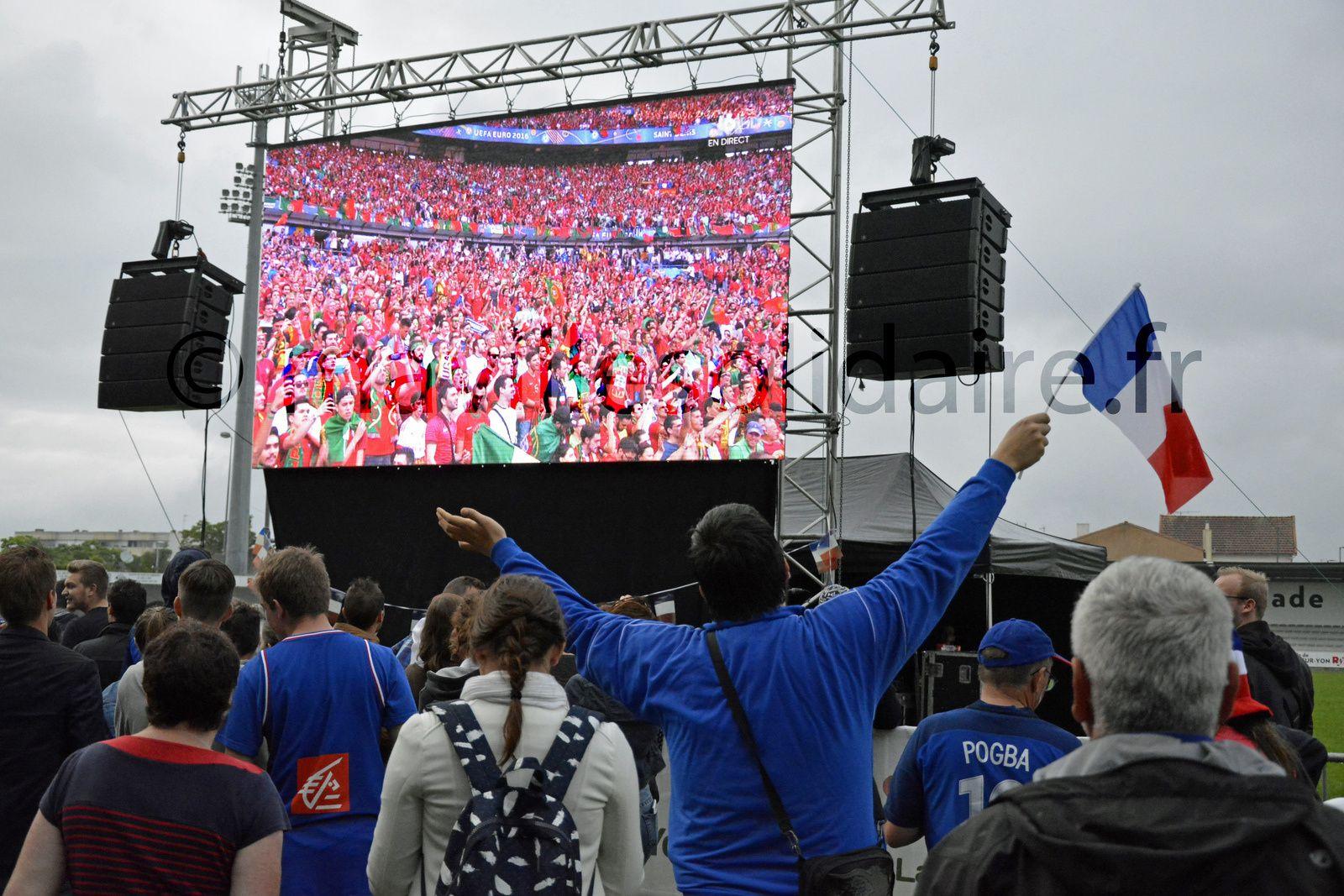 La Roche-sur-Yon. 5000 spectateurs Yonnais à la finale de l'Euro 2016 [images].