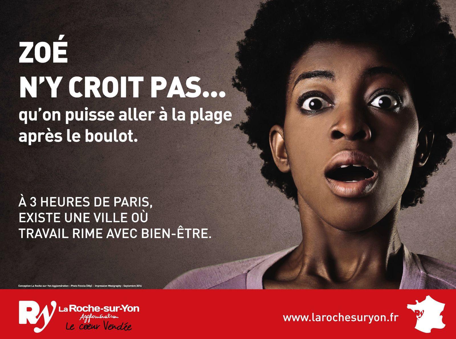 Campagne publicitaire de la Roche-sur-Yon agglo dans le métro parisien.