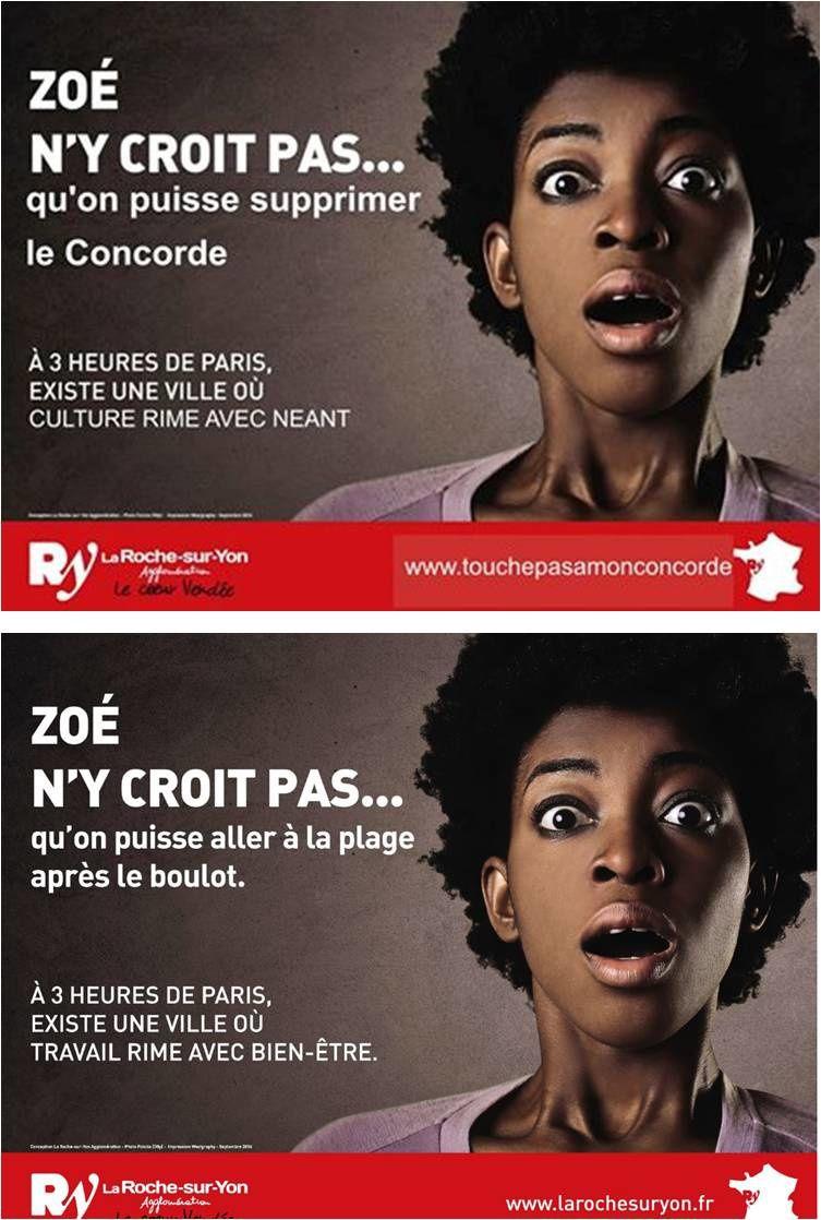 La Roche-sur-Yon. Les amis du Concorde détournent une publicité de l'agglo du métro parisien.